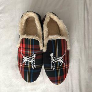Cozy tartan slippers